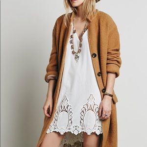 NWT Free People 'easy livin' white slip dress